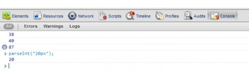 Usando la consola JS