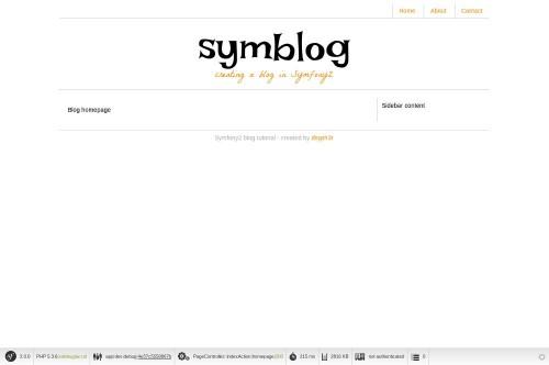Página de inicio de Symblog