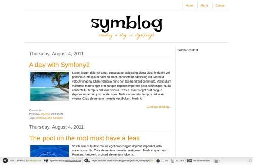 Página de inicio del blog