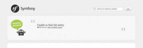 Excepcion trabajo no encontrado