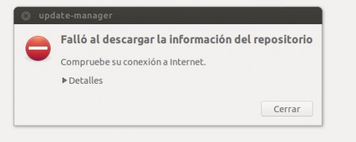 Error repositorios ubuntu